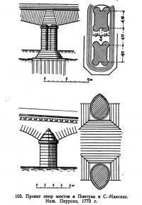 103. Проект опор мостов в Помтуаз и С.-Максанс