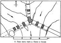 11. План моста через p. Памиз в Греции