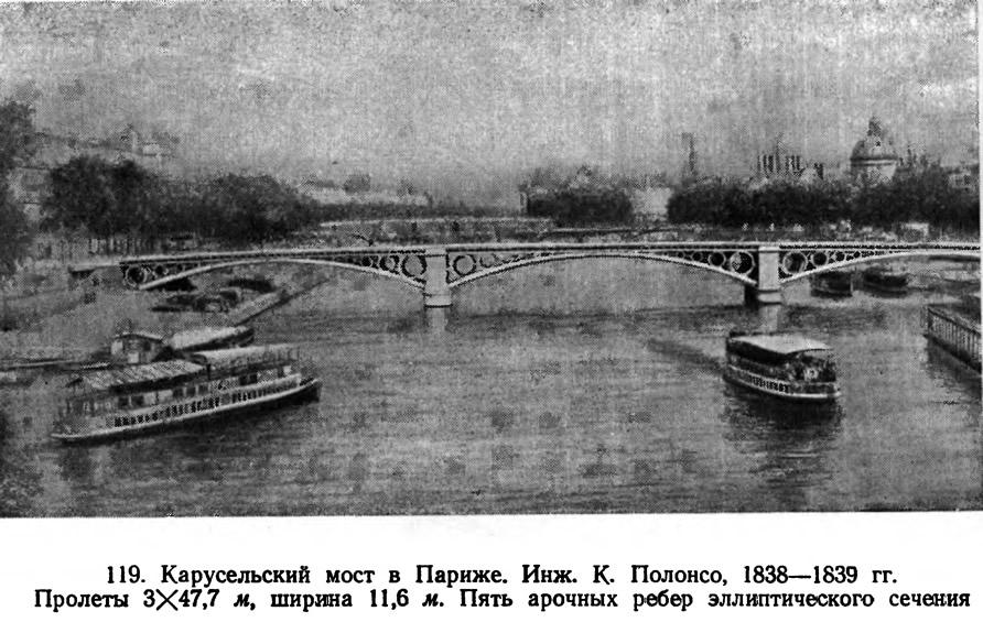 119. Карусельский мост в Париже. Инж. К. Полонсо