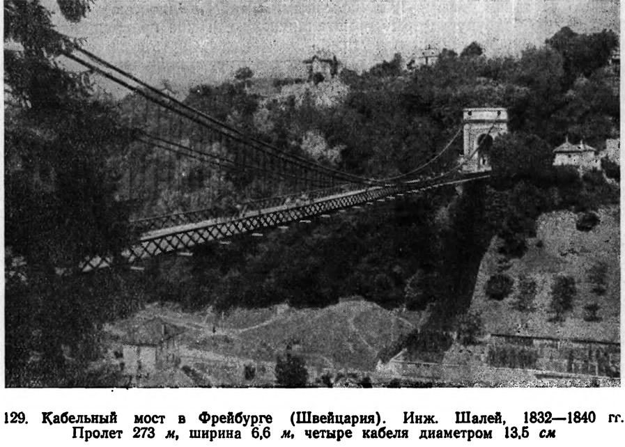 129. Кабельный мост в Фрейбурге (Швейцария)