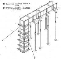 13. Установка опалубки колонн и балок