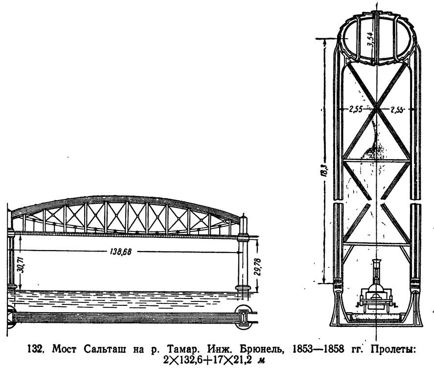 132, Мост Сальташ на р. Тамар. Инж. Брюнель