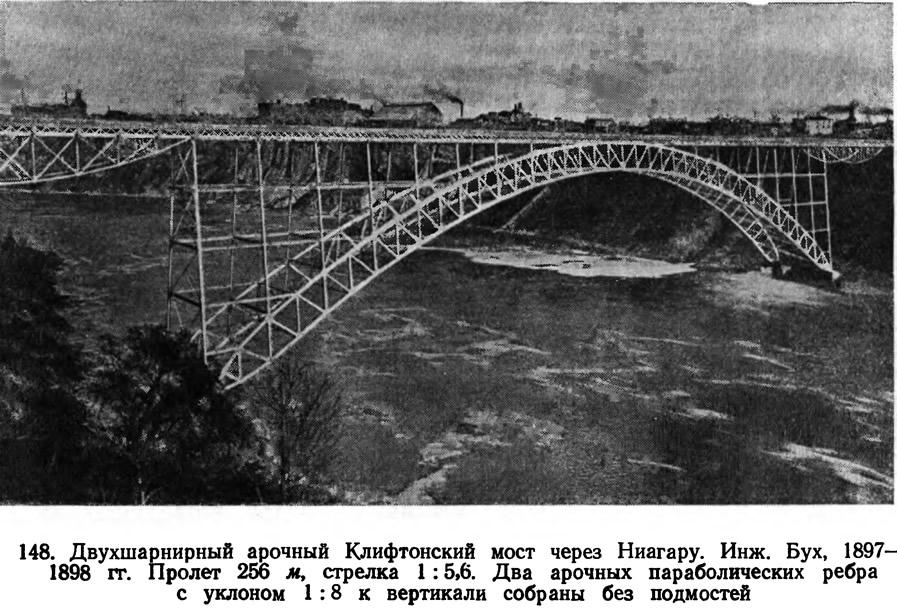148. Двухшарнирный арочный Клифтонский мост через Ниагару