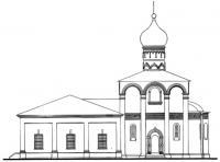 1.5. Церковь Рождества Богородицы в Старом Симонове в Москве 1509. Южный фасад (Проект реставрации)
