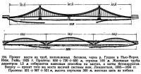 184. Проект моста из труб, наполняемых бетоном, через р. Гудзон в Нью-Йорке