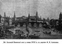 251. Большой Каменный мост в конце XVIII в.