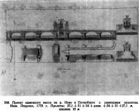 268. Проект каменного моста на р. Неве
