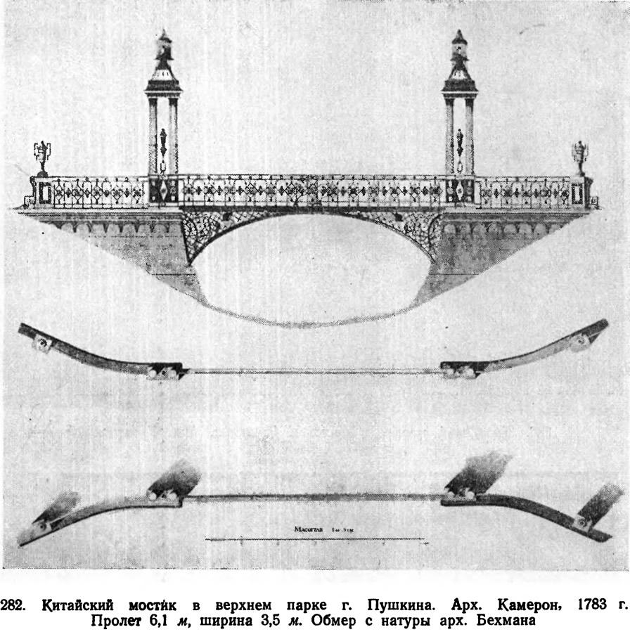 282. Китайский мостик в верхнем парке г. Пушкина