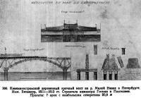 306. Каменноостровский деревянный арочный мост на р. Малой Невке