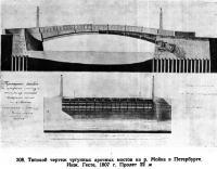 308. Типовой чертеж чугунных арочных мостов на р. Мойке
