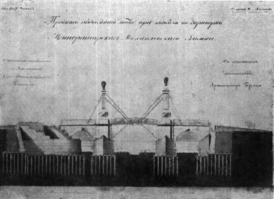 313. Подъемный мост у Инженерного замка. Арх. Бренна