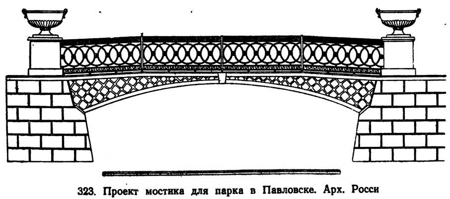 323. Проект мостика для парка в Павловске. Арх. Росси