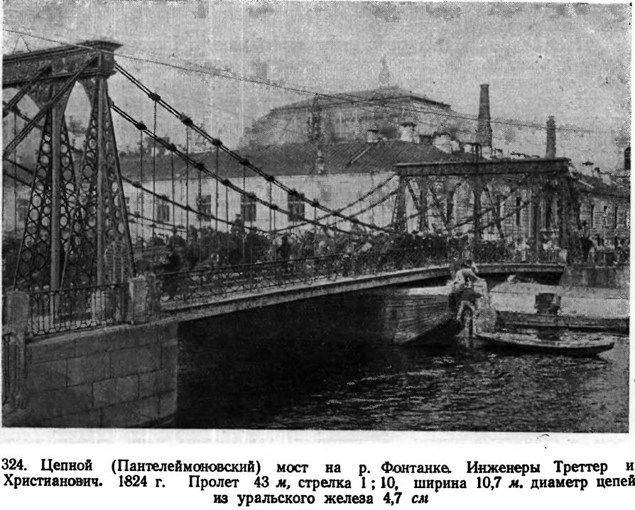 324. Цепной (Пантелеймоновский) мост на р. Фонтанке