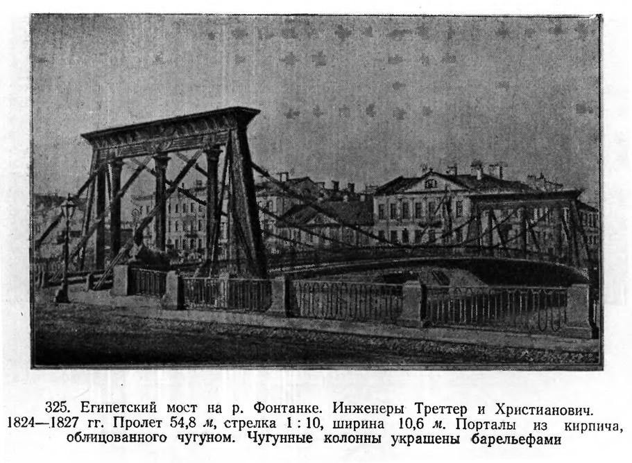 325. Египетский мост на р. Фонтанке