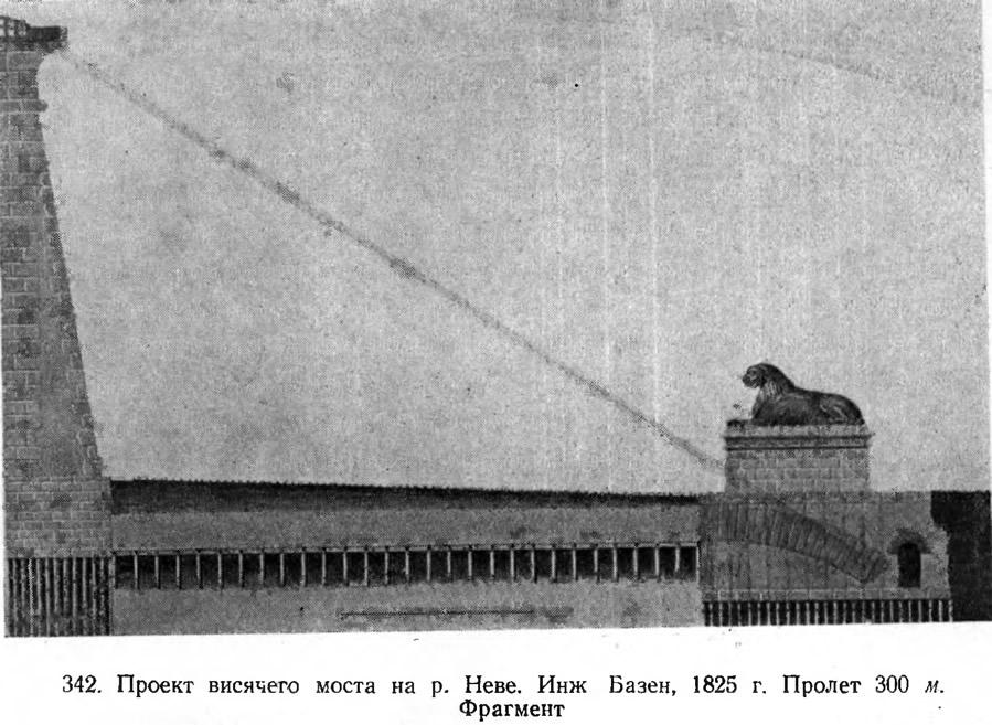 342. Проект висячего моста на р. Неве