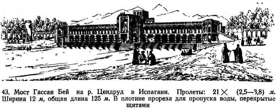 43. Мост Гассан Бей на р. Цендруд в Испагани