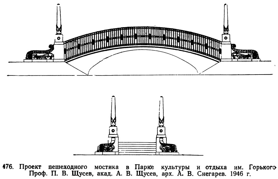 476. Проект пешеходного мостика в Парке культуры и отдыха им. Горького