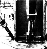 Анкеровка напрягающих стержней в опорной части колонны