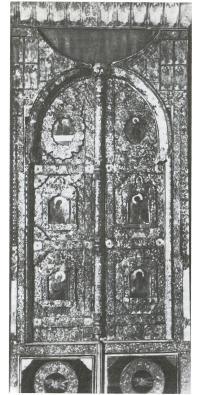 Царские врата иконостаса Владимирской надвратной церкви Михайло-Архангельского монастыря