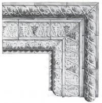 Ценинные фасадные изразцы конца XVII в. (церковь Спасо-Преображенская)