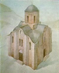Церковь Гнилецкого монастыря. Реконструкция автора и В. А. Харламова