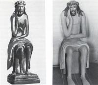 Деревянная резная фигура Христа в темнице, так называемый «Полунощный Спас»