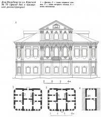 Дом Наледина по ул. Красной № 70 (фасад дан в примерной реконструкции)