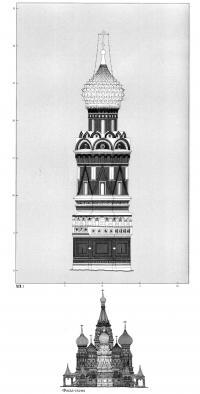 Фасад-схема западного столпа