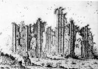 Федоров монастырь на рисунке А. Вестерфельда 1651 г
