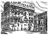 Флоренция. Площадь Синьории. Палаццо Веккио. XVI—XV вв.