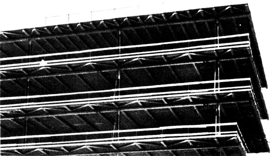Фрагмент монтируемого стального каркаса
