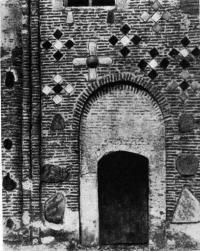 Фрагмент северной стены Борисоглебской церкви