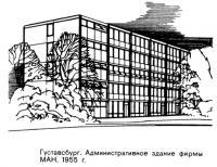 Густавсбург. Административное здание фирмы МАН, 1955 г.
