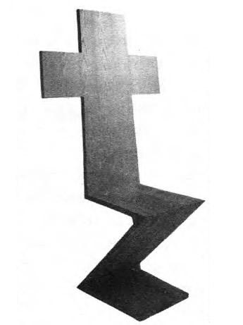 Ироническая реплика на тему стула 3иг-заг Г. Ритвельда. Италия. Группа Алхимия, 1978