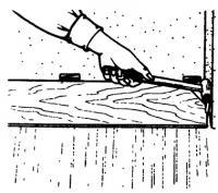 Использование тяги для соединения паза и гребня