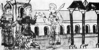 Изображение киевского дворца на миниатюре Радзивилловской летописи