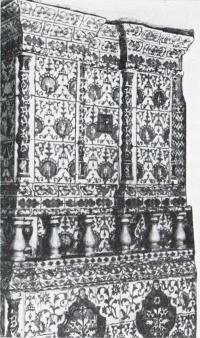 Изразцовая печь в бывшем доме Захарова
