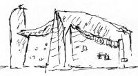 Капелла Роншан. Ле Корбюзье. Рисунок, 1951