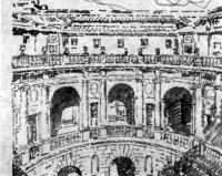 Капрарола, близ Витебро. Вилла-замок Фарнезе. Архит. Дж. Виньола. Внутренний двор
