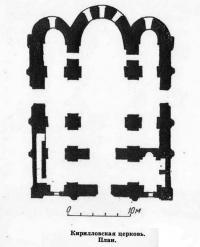 Кирилловская церковь. План