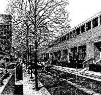 Комплекс посольства США. Проект 1976 г. Дворовое пространство