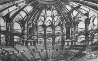 Конкурсный проект Дворца труда в Москве. Архитектор Н. Троцкий, 1923. Интерьер