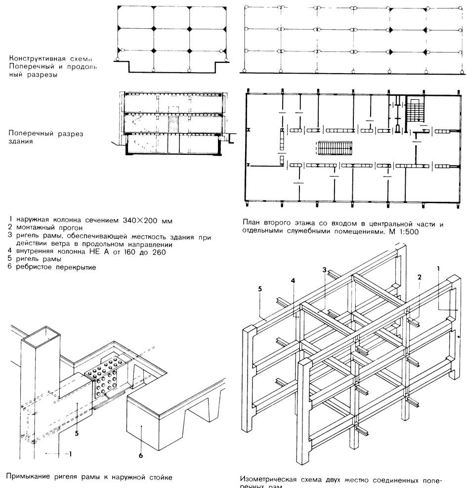 Конструктивная схема здания forum 298