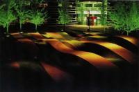 Ландшафтно-световая композиция во дворе Regent Court офисного здания в Диборне