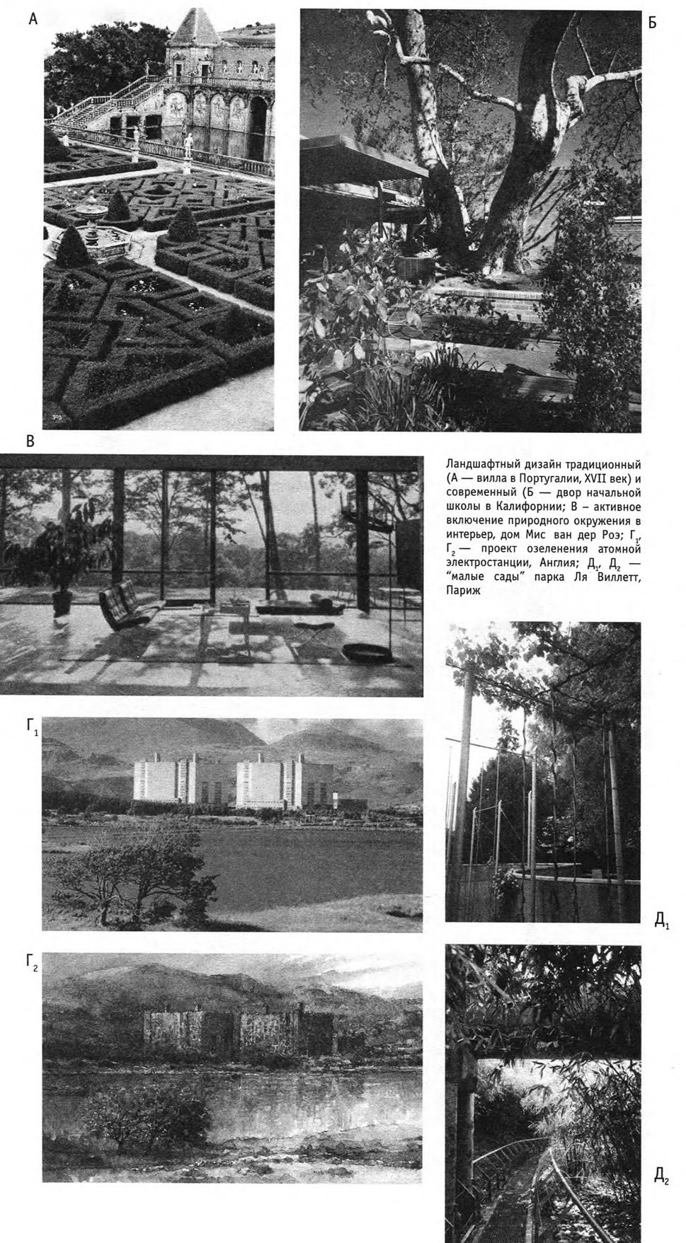 Ландшафтный дизайн традиционный и современный