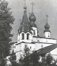 Михайло-Архангельскиq моyастырь. Вид на собор и колокольню с северо-запада