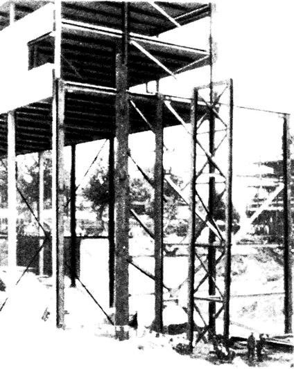 Монтаж конструкций южного крыла