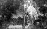 Москва. Фонтаны на Чистых прудах. Проект 1945 г. Перспектива
