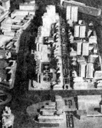 Москва. Комплекс Тулинской и Школьной улиц. Проект реконструкции 1981 г. Макет