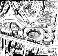 Москва. Конкурс на здание Академии художеств. 1981 г. Генплан. Аксонометрия